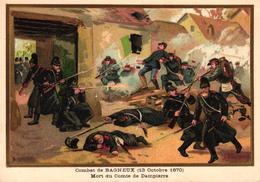 CHROMO - COMBAT DE BAGNEUX 13 OCTOBRE 1870 - Trade Cards