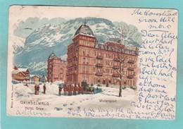 Old Post Card Of Hotel Baer,Grindelwald, Berne, Switzerland ,R73. - BE Berne