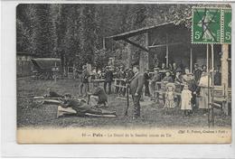 80 POIX . Stand De Tir Animé , édit : E Poiret , écrite En 1908 , état Extra - Poix-de-Picardie
