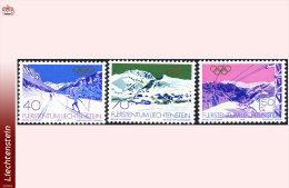 Liechtenstein 0679/81**  Jeux Olympiques   MNH - Faciale 2.60 FS - Winter 1980: Lake Placid