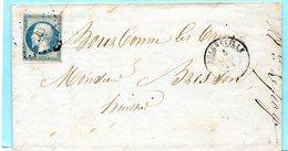 P.c.563 BULGNEVILLE (62) Sur N°14 I,L.A.C. Du 5/7/54. - 1849-1876: Période Classique