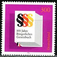 BRD - Mi 1874 Oberrand - ** Postfrisch (F) - 300Pf                     Bürgerliches Gesetzbuch - BRD