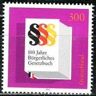 BRD - Mi 1874 Oberrand - ** Postfrisch (G) - 300Pf                     Bürgerliches Gesetzbuch - BRD