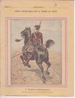 PROTEGE CAHIER ILLUSTRÉ ANCIEN - ILLUSTRATION ARMÉE ALLEMANDE GUERRE 1870 1871 MAJOR DES HUSSARD ROUGES DE ZIETHEN - Protège-cahiers