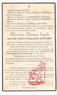 DP Maria Closset ° Sint-Margriete-Houtem Tienen 1879 † Eliksem Landen 1947 X H. Ingels / Theunis Verburgt DeGreef Beynen - Devotieprenten