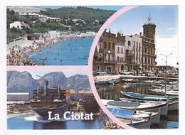13 La Ciotat En 3 Vues N°1106 En 1991 Gros Cargo NIVOSE De Rouen Dans Les Chantiers Navals Bateaux De Pêche - La Ciotat