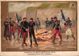 CHROMO - BATAILLE DE METZ 28 OCTOBRE 1870 - Trade Cards