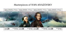 Maldives 2018  Ivan Aivazovsky  Paintings  S201810 - Maldives (1965-...)