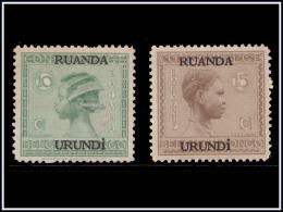 Ruanda 0079/80 SG Vloors Surcharge B  Sans Gomme ! - - Ruanda-Urundi
