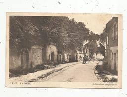 Cp,  37 , AMBOISE ,  Habitations Troglodytes ,écrite - Amboise