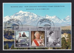 New Zealand 2012 Blenpex Exhibition - Diamond Jubilee Minisheet Used - New Zealand