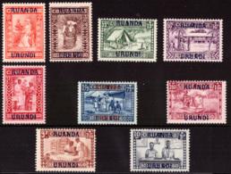 Ruanda 0081/89* Goutte De Lait  1930 H - Ruanda-Urundi