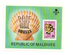 Feuillet - Maldives - Shells-voir état - Maldives (1965-...)