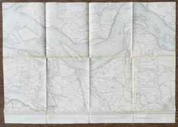 WATERVLIET Sint-Laureins Meting 1862-1910 STAFKAART 6 TERNEUZEN SCHELDE HULST PHILIPPINE BIERVLIET HOOFDPLAAT SS245 - Sint-Laureins