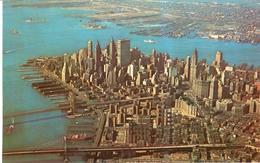 POSTAL    NEW YORK  -EE.UU.   - LOWER (BAJO) MANHATTAN SKYLINE FROM THE AIR - Manhattan