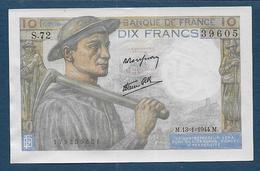 Billet 10 F  Mineur Du 13 - 1 - 1944 - 1871-1952 Anciens Francs Circulés Au XXème