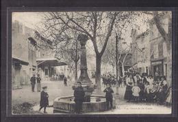 CPA 13 - GRANS - Vue Générale Du Cours - SUPERBE PLAN ANIMATION CENTRE VILLAGE FONTAINE MAGASIN Café Verso - Autres Communes