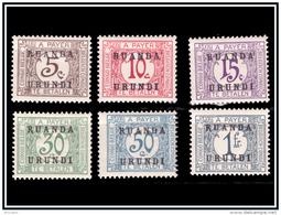 Ruanda TX 009/14* Surchargé  H - - Ruanda-Urundi