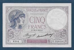 Billet 5 F  Violet  Du 19 - 1 - 1933 - 1871-1952 Antiguos Francos Circulantes En El XX Siglo