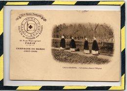 LALLA-MARNIA . - . INFIRMIERES ALLANT A L'HÔPITAL. CAMPAGNE DU MAROC ( 1907-1908). - Croix-Rouge