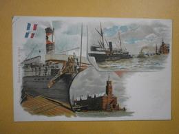 Carte Illustrateur. Steamer à Quai. Pub A. Primare, Droguiste Au Havre (4976) - Altri