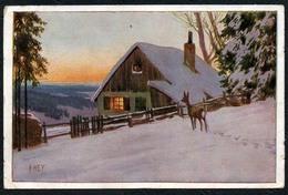 B9633 - Paul Hey - Neujahrskarte Gemälde Künstlerkarte - VDA - Gel Buchholz - Hey, Paul