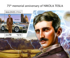 Maldives 2018  Nikola Tesla   S201810 - Maldives (1965-...)