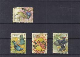 Oiseaux - Woodpecker - Oriole - Bleubird - Singapore - 3 Timbres ** - Valeur 6,85 Euros - Climbing Birds