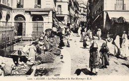 ALGERIE -  ALGER - La Place RANDON Et La Rue MARENGO  . - Alger