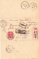 Semeuse 204 Sur Recommandé De Chalon-sur-Saône à Annoire (Jura) (1925) - 1903-60 Sower - Ligned