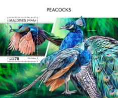 Maldives 2018 Peacocks Fauna  S201810 - Maldives (1965-...)