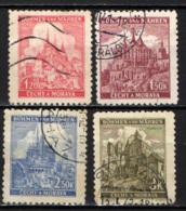 BOEMIA E MORAVIA - 1941 - VEDUTE DI CITTA' - NUOVI TIPI - USATI - Boemia E Moravia