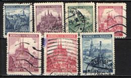 BOEMIA E MORAVIA - 1939 - VEDUTE DI CITTA': PRAGA, BRNO - USATI - Boemia E Moravia