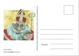 2016 Saint Nicolas, Noël, Weihnachtsmann: Carte Postale Personalisée, Neuf, Lydie Develter 2Scans - Private