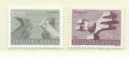 YOUGOSLAVIE  ( EU - 951 )  1974  N° YVERT ET TELLIER  N° 1426a/1427a   N** - 1945-1992 République Fédérative Populaire De Yougoslavie