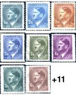 Ref. 205390 * MNH * - BOHEMIA AND MORAVIA. 1942. ADOLF HITLER . ADOLF HITLER - Bohemia & Moravia
