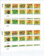 Jordan2009. VEGETABELS Complete Sheet 10 V. X 10 Unfolded - MNH - Reduced Price- SKRILL PAYMENT ONLY - Jordan