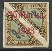 ESTLAND ESTONIA 1923 Michel 45 B I * Air Mail Air Plane - Estonia