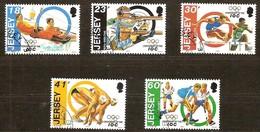 Jersey 1994 Yvertn° 648-52 (°) Oblitéré Used Cote 9 Euro Sport C.O.I. Centenaire - Jersey