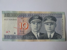 Latvia/Lithuania 10 Litu 2007 Banknote In Very Good Conditions - Lettonie