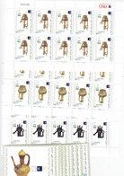 Jordan 2007, Islamic Art 3v. In Complete Sheets 10 Sets Unfolded + 10 Souv., Sheets - Reduced Pr. SKRILL PAY ONLY - Jordan