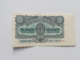 CECOSLOVACCHIA 3  KORUN 1953 - Cecoslovacchia