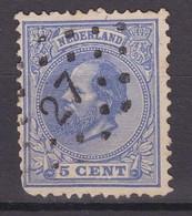 N° 19 : Puntstempels 27 - Periode 1852-1890 (Willem III)