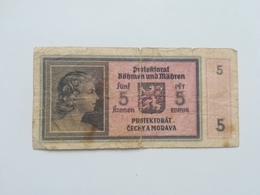 BOEMIA E MORAVIA 5  KORUN 1940 - Tchécoslovaquie