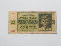 BOEMIA E MORAVIA 20  KORUN 1944 - Cecoslovacchia