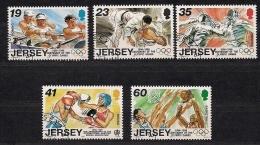 Jersey 1996 Yvertn° 736-40 (°) Used Cote 9,00 Euro Sport J.O. 1996 O.S. - Jersey