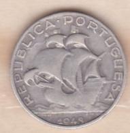 PORTUGAL. 2 ½ ESCUDOS 1943, En Argent - Portugal