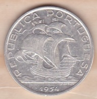 PORTUGAL. 10 ESCUDOS 1954, En Argent - Portugal