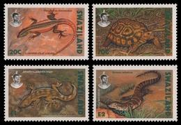 Swaziland 1992 - Mi-Nr. 602-605 ** - MNH - Reptilien / Reptiles - Swaziland (1968-...)