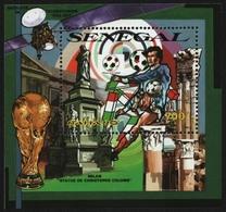 Senegal 1990 - Mi-Nr. Block 57 A ** - MNH - Fußball / Soccer - Senegal (1960-...)
